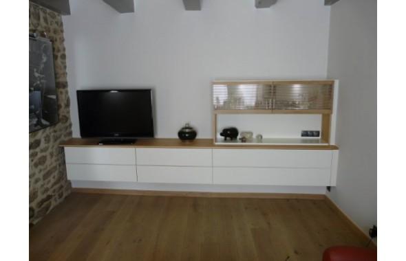 agencement de meuble tv agencements argoat cuisines. Black Bedroom Furniture Sets. Home Design Ideas
